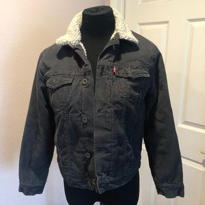 LEVI'S CORDUROY JACKET WITH SHERPA LINING SIZE MED